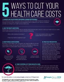 5 ways to cut healthcare costs infographic